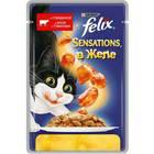 Корм для кошек влажный Felix Sensations С говядиной и томатами в желе 85 г (24 штуки в упаковке)